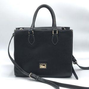 Classic Black Leather Dooney & Bourke Satchel